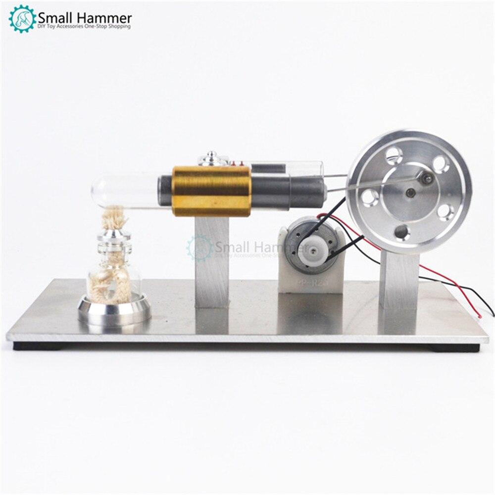 Modèle de moteur miniature Stirling moteur à combustion externe cadeau d'anniversaire moteur à vapeur