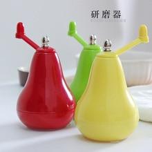 Творческий фрукты форма шлифовальные станки кухня цветок соль перец мельница