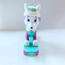 New Paw Patrol Dog Skateboarding Anime Toys Action Figure Model Patrulla Canina Children Gifts