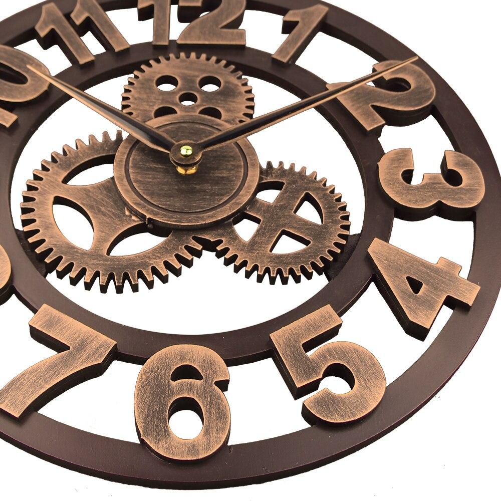 2018 Arte Engranaje Grande Reloj De Pared Hecha A Mano 3d Retro  ~ Relojes Grandes De Pared Vintage