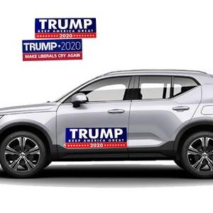 "Image 5 - 10 pcs דונלד טראמפ לנשיא מחדש בחירות רכב מדבקה גדול שוב ארה""ב דגל כובע רכב פגוש מדבקה"