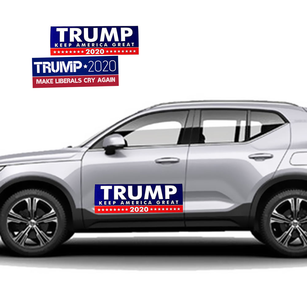 Image 5 - 10pcs Donald Trump for President Re Election Car Sticker Great Again USA Flag Cap Car Bumper Sticker-in Car Stickers from Automobiles & Motorcycles