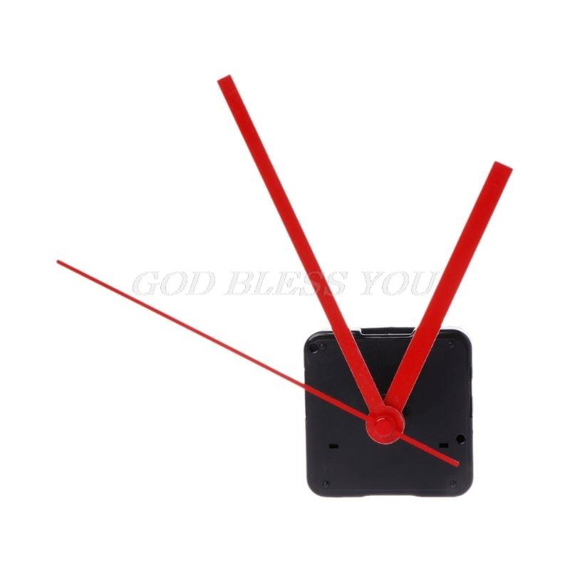 Quartz Clock Movement Mechanism Hands Wall Repair Tool Parts Silent Kit Set DIY Red Pointer 32