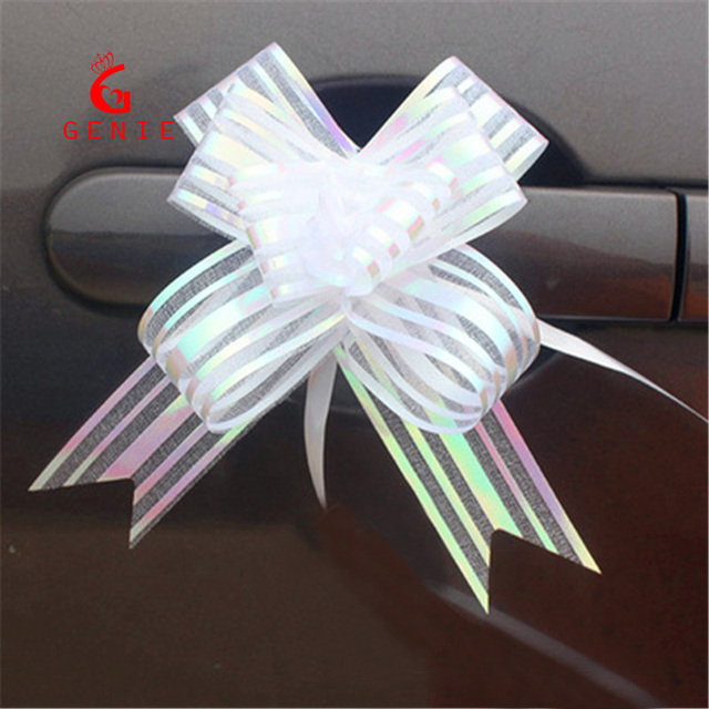 Wholesale 200pcs cute organza ribbon pull bows wedding car decoration valentines day wedding christmas gift decorative