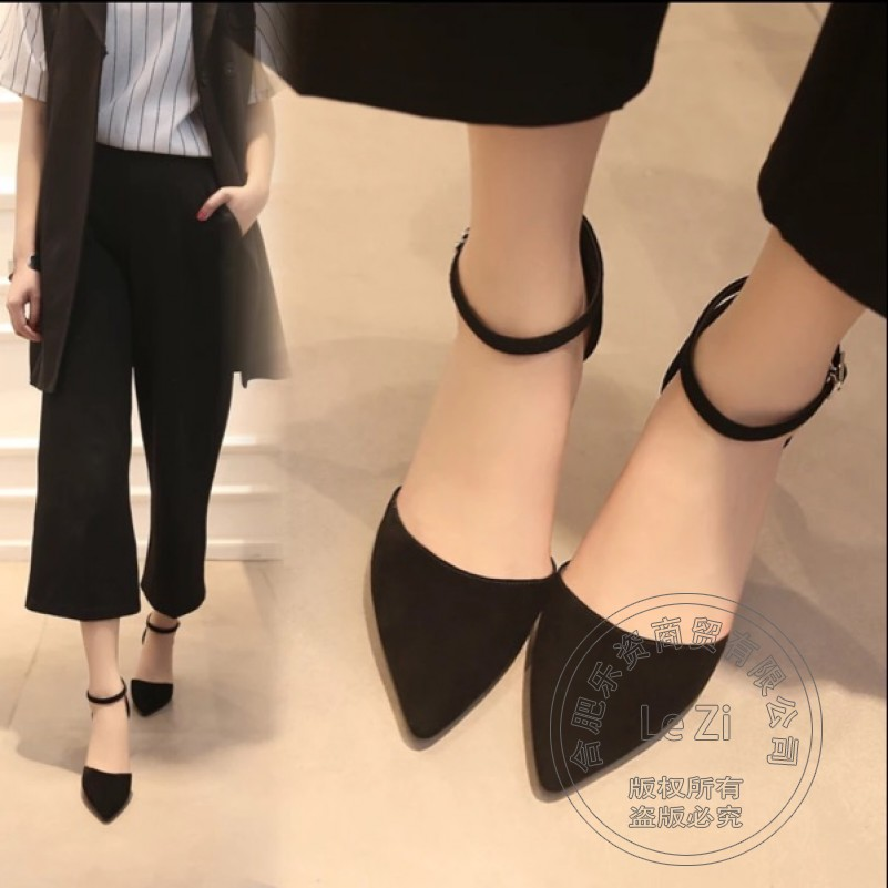 ФОТО Pointed Toe Daily Models Shoes Lightweight Safety Stiletto Heels Tie Up Ankle Strap Ankle Strap Heels Pu Nubuck Leather Solid