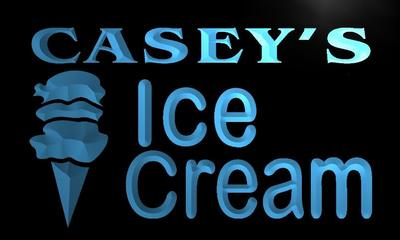 x0269-tm Caseys Ice Cream Shop Custom Personalized Name Neon Sign Wholesale Dropshipping On/Off Switch 7 Colors DHL