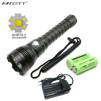 NEW Led Diving Flashlight CREE XHP70 LED 4000Lumens Lanterna Led Underwater 100m Waterproof Tactical Flashligh Torch With 18650