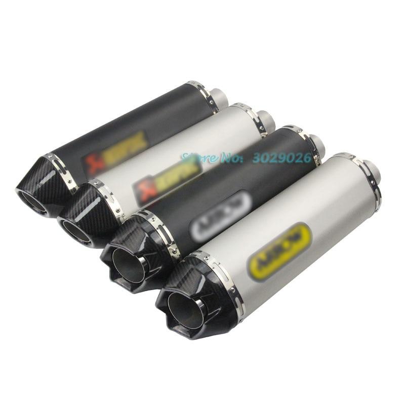 Universal Para A Maioria Dos Moto Silenciador do Escape Da Tubulação de entrada de 51mm seta adesivo corrida De Carbono Escape Ninja Z750 S1000 RR CBR1000 ZX YZF R6
