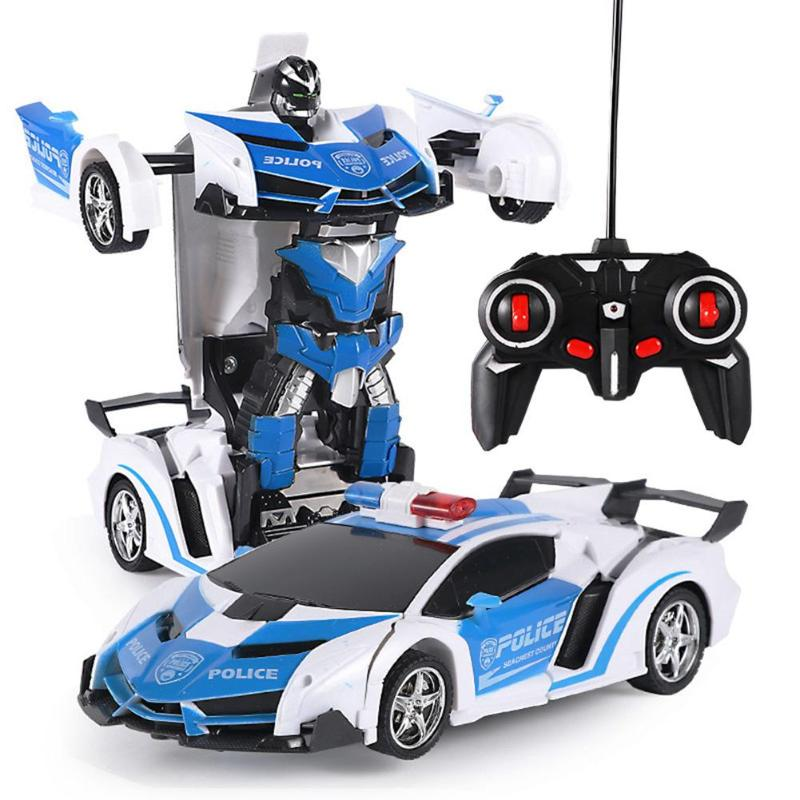 Toy Cars That You Can Drive >> Us 4 26 28 Off Educational Toys For Children Rc Car Transformation 2 In 1 Robots Sports Cars Drive Remote Control Cool Deformation Car Fighting In