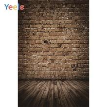 Yeele Retro Brick Wall Wooden Floor Vintage Portrait Photographic Background Customized Photography Backdrop For Photo Studio цена в Москве и Питере