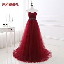 Dark Red Long Evening Dresses Party Beautiful New Women Prom Formal Evening  Gowns Dresses Wear robe 9294e1e12e78