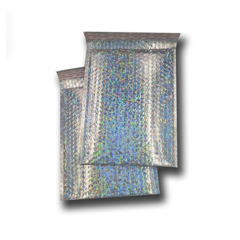 40pcs Medium Holografische Bubble Envelop, Laser Zilver Mailer voor Luxe Goederen Levering, Glanzend Hologram Kussen Verpakking-in Geschenktasjes & Inpak Benodigheden van Huis & Tuin op  Groep 1