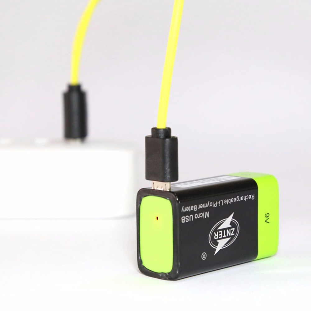 ZNTER Ultra Efficient 9V 400mAh USB Rechargeable 9V Lithium Polymer Battery For RC Camera font b