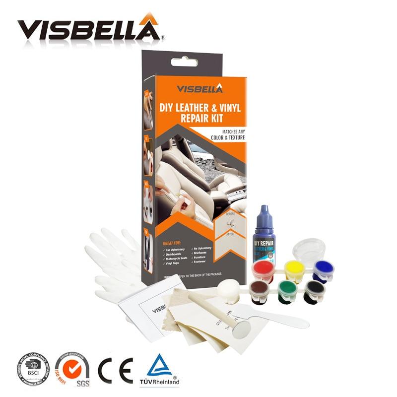 Visbella Flüssigkeit Haut DIY Leder Vinyl Reparatur Kit Sitz Sofa Mäntel Loch Riss Rip Auto Auto Pflege reparatur kit Leder wiederherstellung Werkzeuge