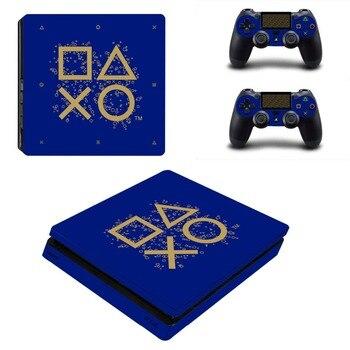 Pegatina protectora de la piel de la etiqueta del vinilo para la consola y el controlador delgados PS4