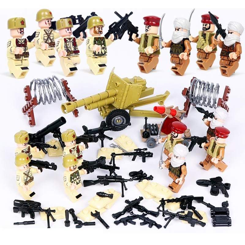 Disciplined Ww2 Brickmania Figures Russia Snowfield Surprise Troops Block World War Soviet Union Army Forces Dog Minifigs Weapon Bricks Toys Model Building