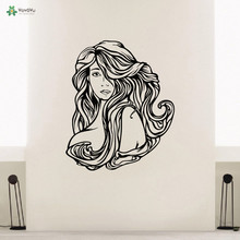 YOYOYU Vinyl Wall Decal Beauty Hairdressing Hair Salon Stylist Hairstylist Interior Art Room Decoration Stickers FD441