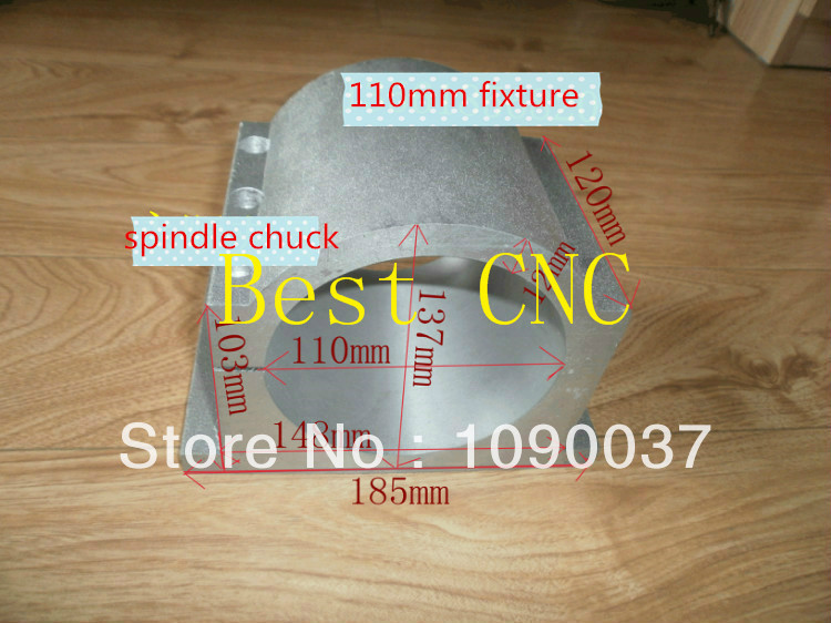 ФОТО 110mm spindle chuck Spindle motor fixture Spindle Chuck for CNC Router spindle mounts 110mm