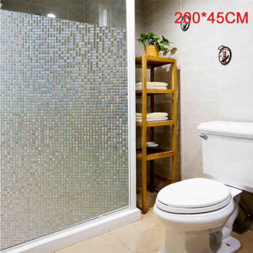 decorative film for bathroom windows 3d static cling window film sticker door glass paper frosted  static cling window film sticker door