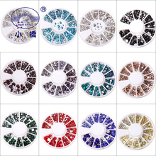 Glitter Crystal Rhinestones Glass For Nails Art Decorations Mixed Size Non Hotfix Flatback S013