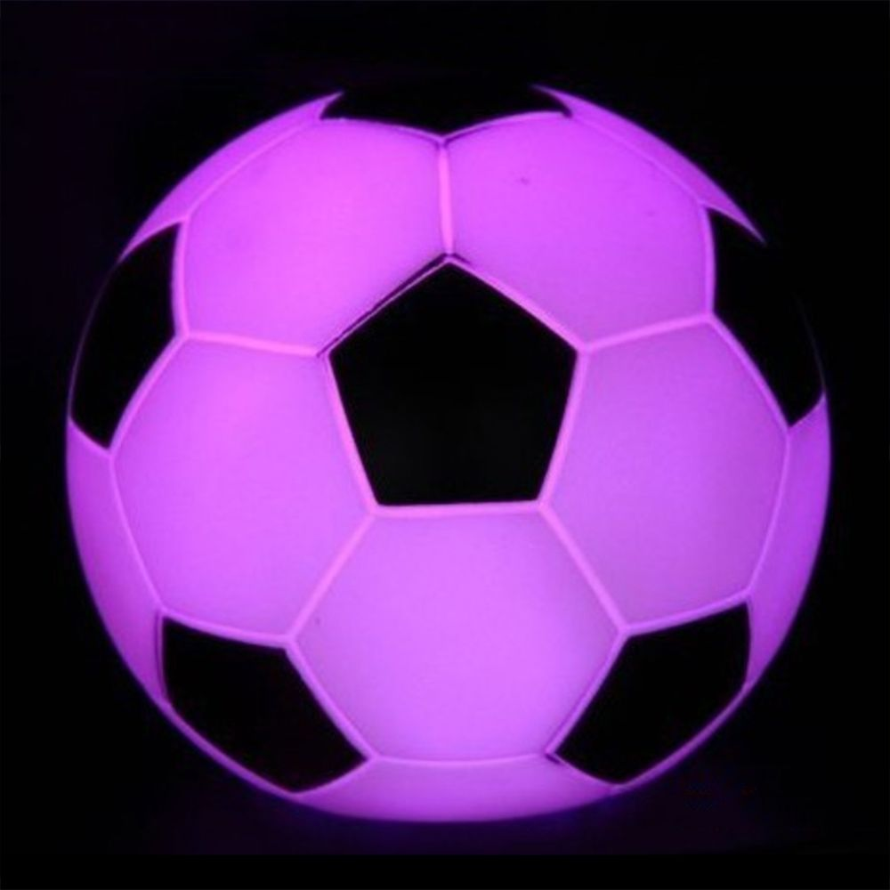 1pc Color Changing LED Football Night Light Children Gift Bedroom Decoration For Kid Baby Bedside Atmosphere Lamp Lampara