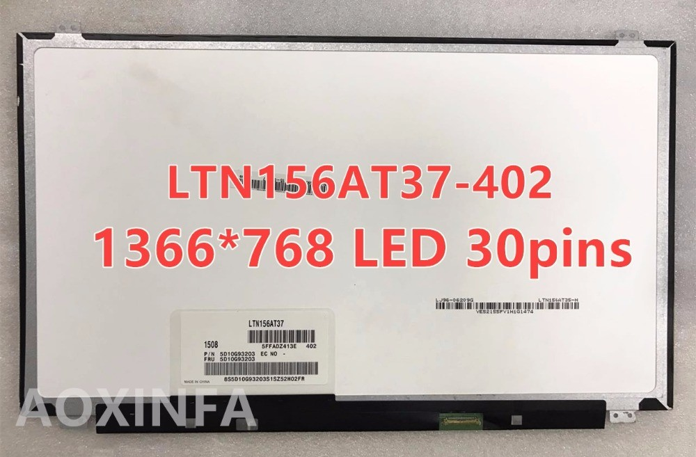 B156XTN04.0 B156XW04 V.8 N156BGE-EB1 N156BGE-E41 NT156WHM-N12 LP156WHU TPA1 B156XTN03.1 LTN156AT37 30 pin 15.6LED