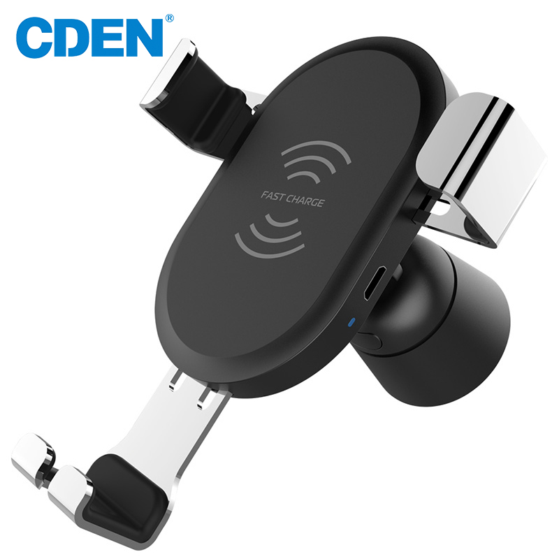 CDEN Car Mount Wireless Charger for iPhone X 8 Plus Samsung Quick Charge Fast Wireless Charging Pad Car Holder Stand in Universal Car Bracket from Automobiles Motorcycles