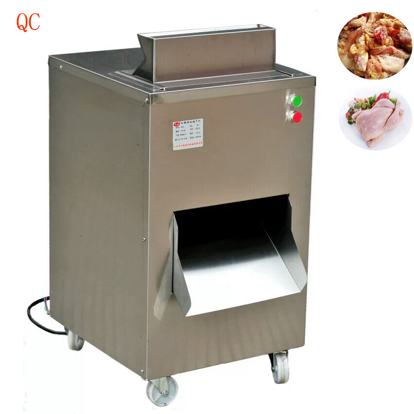 Restaurant meat cutting machine 380V/220V  meat slicer, chicken cutter machine 800KG/HR  цена и фото