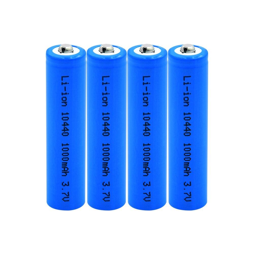 178.61руб. 11% СКИДКА|3,7 V 10440 литиевая батарея AAA высокой емкости 1000mAh литий ионная аккумуляторная батарея для светодиодный фонариков беспроводная мышь|Подзаряжаемые батареи| |  - AliExpress