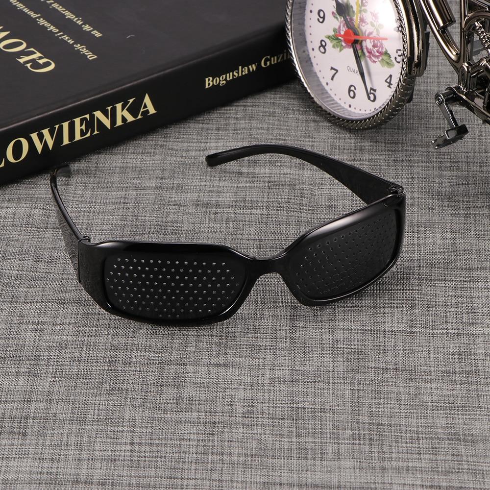 TiOODRE Black Unisex Vision Care Pin hole Eye Exercise Eyeglasses Pinhole Glasses Eyesight Improve Plastic High Quality