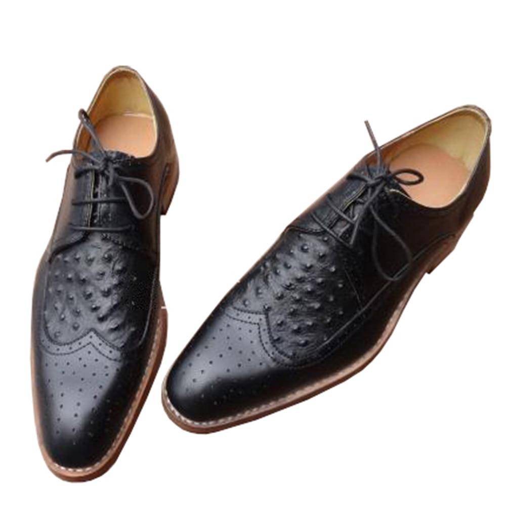 Sipriks Mens Wingtip Dress Shoes Luxury