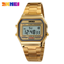 2016 SKMEI Men LED Digital Watch Sports Watches men's Relogio Masculino Relojes Stainless Steel Military Waterproof Wristwatches