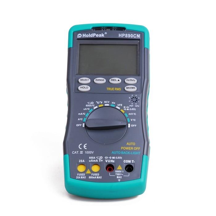 HoldPeak HP890CN Stabile LCD Digital-Multimeter DC AC Spannung Strom HP-890CN Temperatur Meaurement Auto Range