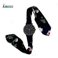 2017 леди подарок простые Стильные часы ENMEX Strappy хлопок часы передовые fashionpastoral Стиль кварцевые наручные часы