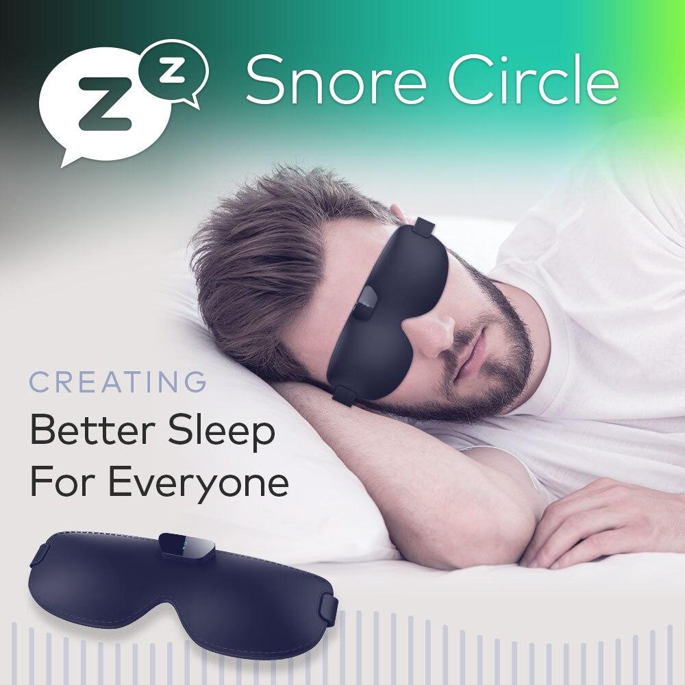 Masque Anti ronflement pour les yeux empêche le ronflement bouchon Anti ronflement noir masque confortable pour les yeux Solution de ronflement apnée du sommeil offre spéciale de sommeil