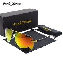 FankGlasses Aluminum alloy Polarized Sunglasses Men Coating Mirror Sun glasses Brand Designer Oculos Male Female Eyewear For Men