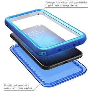 Image 4 - Para iphone Xs Max Case 6,5 pulgadas i blason Aegis impermeable de cuerpo completo rugoso funda protectora con Protector de pantalla incorporado