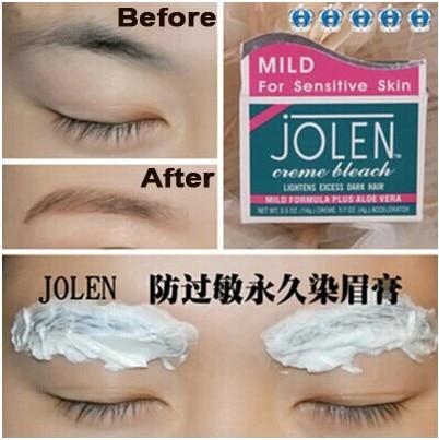 Jolen Eyeborw Cream Dyeing Eye Brow Permanent Pigment Shadow Bleach Hair Lightens Excess Dark Regurlar Mild In Eyebrow Enhancers From Beauty Health