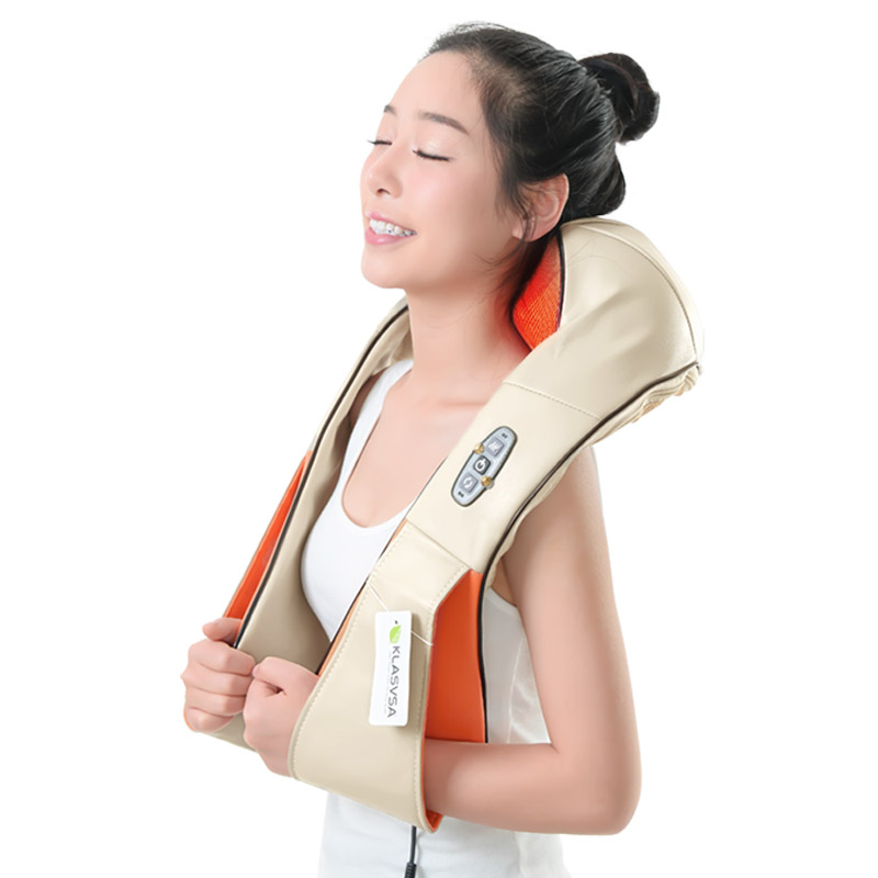 цены на KLASVSA 12 Massage Heads Heating Neck Shoulder Kneading Massager Cervical Therapy Health Care Back Waist Pain Relief Relaxation