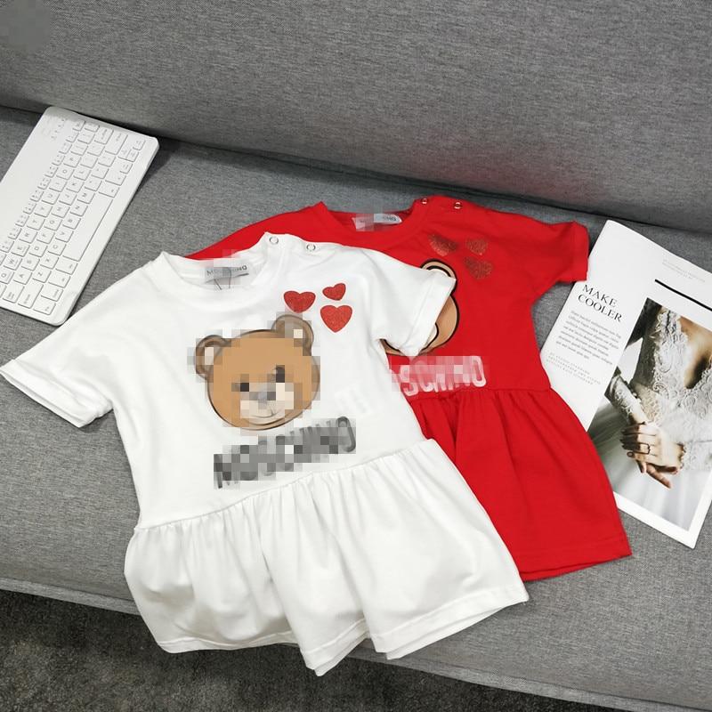 Girls sleeveless casual dress Babys cotton cartoon dressGirls sleeveless casual dress Babys cotton cartoon dress
