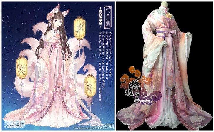 [STOCK] 2017 jeu Miracle Nikki chinois ancien Costume magnifique impression numérique Tradition Cosplay Costume noël livraison gratuite.