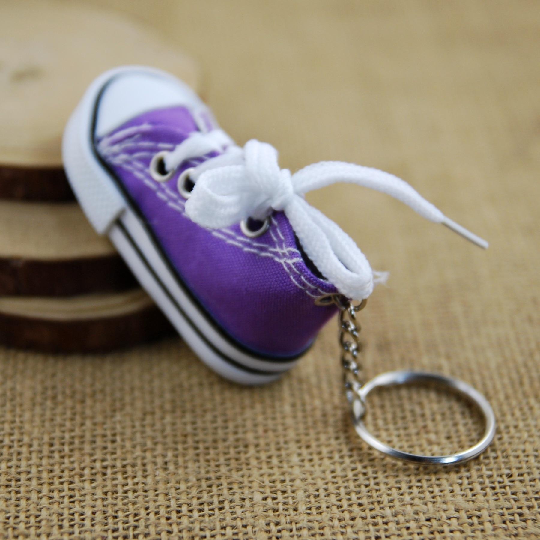 Холст обуви ключ пряжки Повседневный брелок на ключи в виде обуви цвет обуви брелоки металл аксессуары для сумки - 6