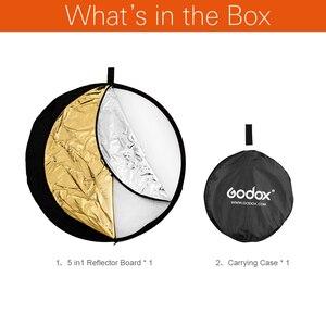 """Image 2 - Godox 60 cm 24 """"5in1 Fotoğraf Reflektör Kurulu için Katlanabilir Stüdyo Fotoğrafçılığı Reflektör"""