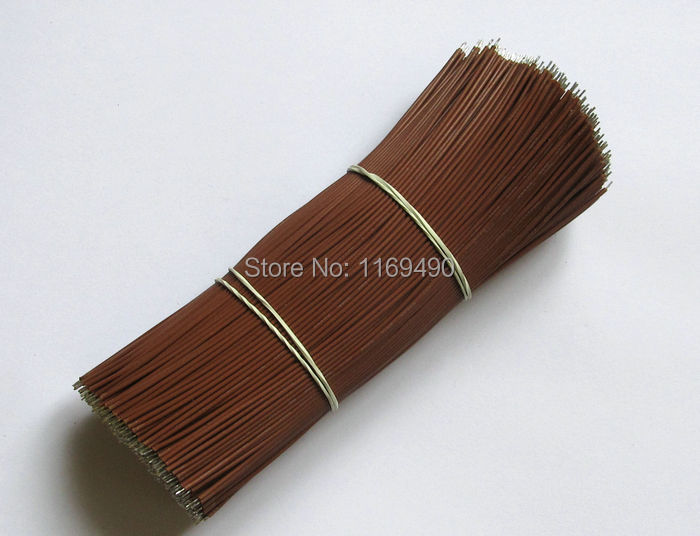 150pcs / pack Brown color cord UL 1007 26AWG wires Kit 15cm=6 cable for LED etc. tinned copper conductor .