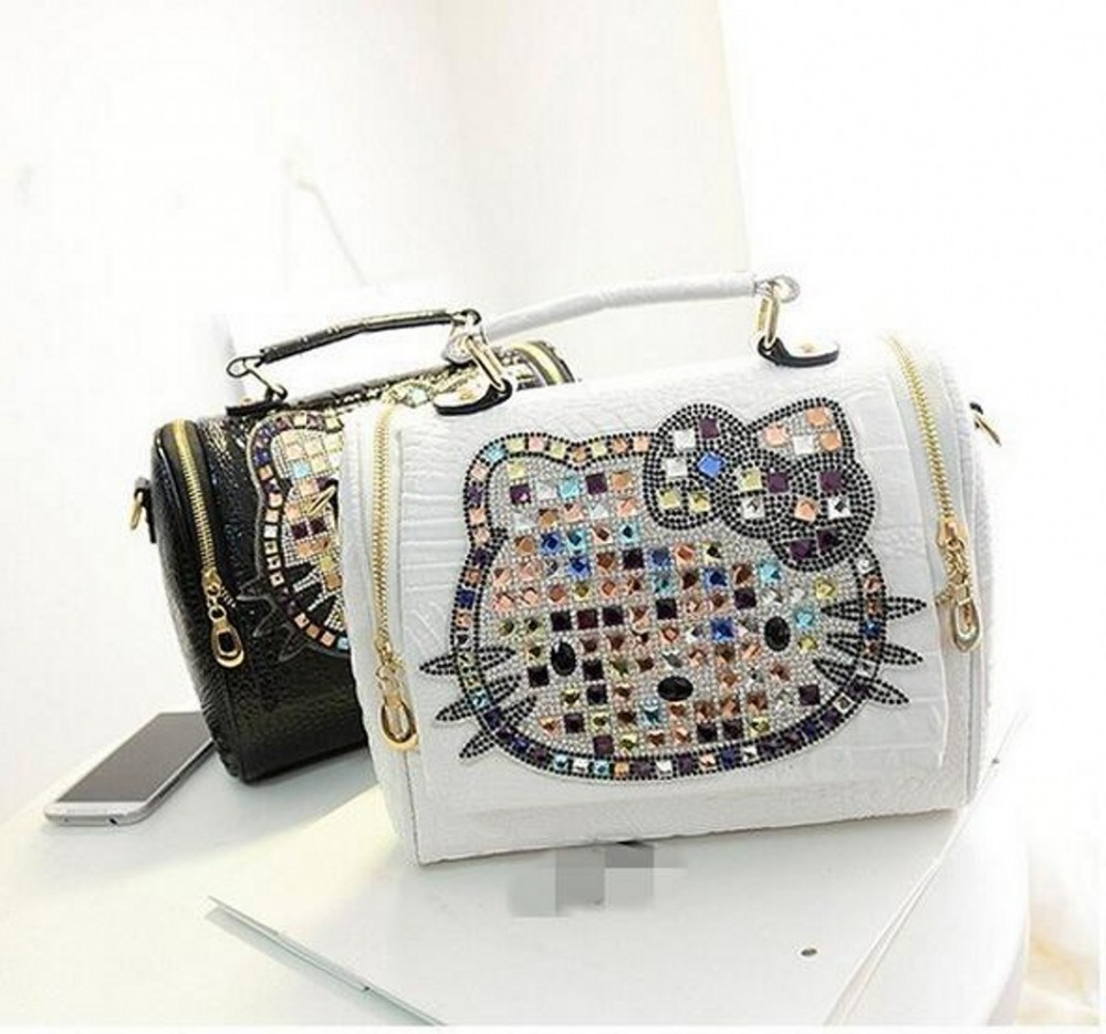 5b743ea9ba94 Luxury women female leather hello kitty bag handbags shoulder famous brands  designers crossbody bags for women bolso mujer – World of Hello Kitty ...