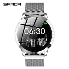 Sanda fashion smart sports bracelet heart rate blood pressure counter step watch sleep monitoring waterproof