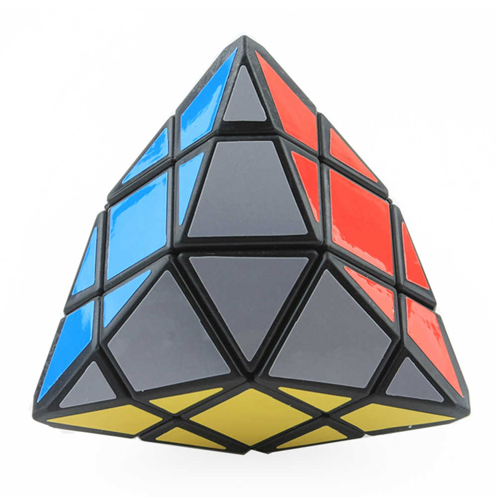 4-Corner-Only Magic Cube Rice Dumplings Twisty Puzzle Cube Pyramid Speed Puzzle Cubo Magico Children Learning Educational Toy