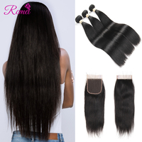Straight Bundles   With     Closure   Brazilian   Hair     Weave   3 Bundles   With     Closure   Human   Hair   Bundles   With     Closure   Non Remy Can Dye Rcmei