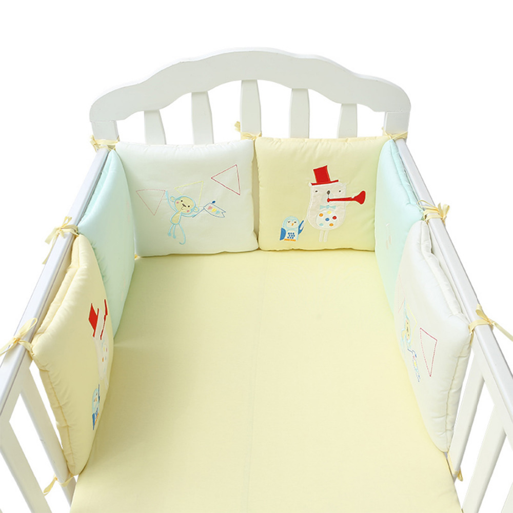 6Pcs/12Pcs Baby Bedding Baby Bed Protector Crib Bumper Pads for Newborn Cotton Safety Baby Fence Bumper in the Crib Cot Bumper