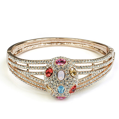 Coral sea crystal bracelet female